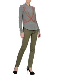 Army multicut trousers designed by Larisa Dragna.