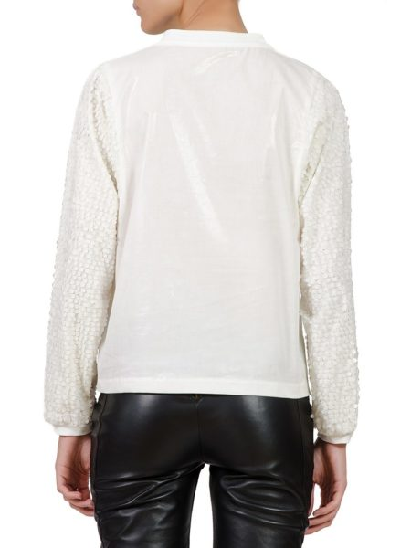 White shirt with sequins sleeves (3)